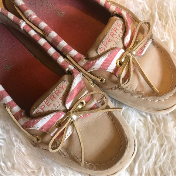 Sperry Other - Girls top-sider Sperry striped dock / boat shoes